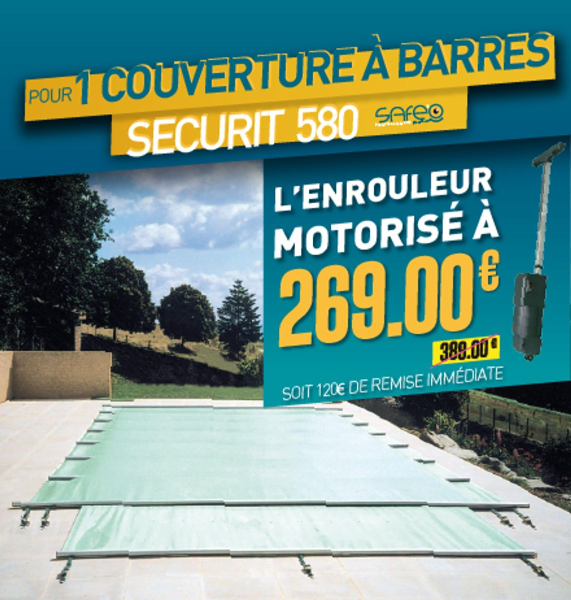 COUVERTURE A BARRES SECURIT 580
