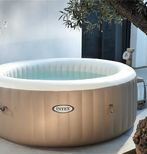 SPA GONFLABLE INTEX PURESPA ROND 4pl. BULLES BEIGE <2020