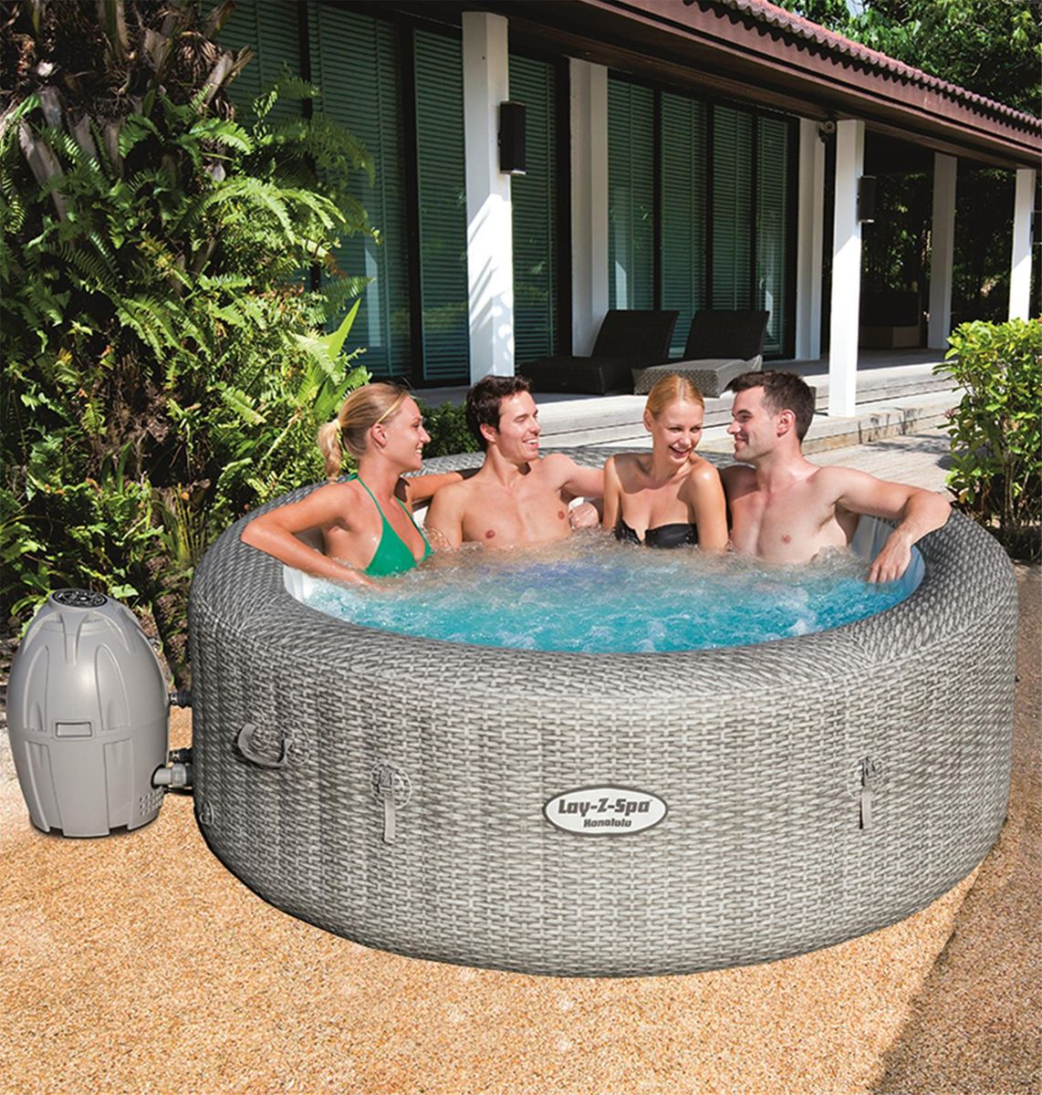 SPA GONFLABLE BESTWAY LAY-Z-SPA HONOLULU 4-6 pers