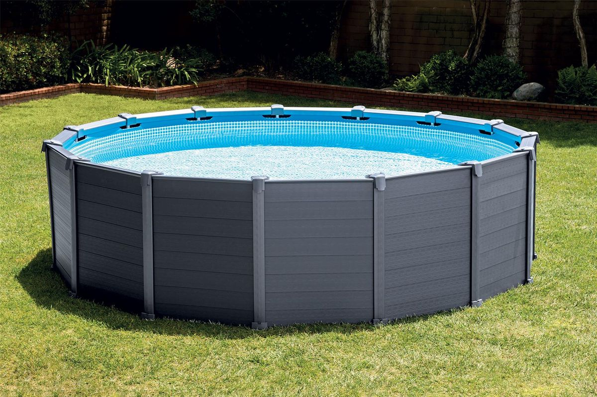 piscine intex graphite 4 78x1 24 filtre a sable cash piscines. Black Bedroom Furniture Sets. Home Design Ideas