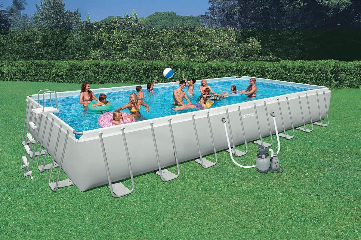 Piscine intex ultra silver rect 9 75x4 88x1 32 filtre a for Piscine intex silver ultra